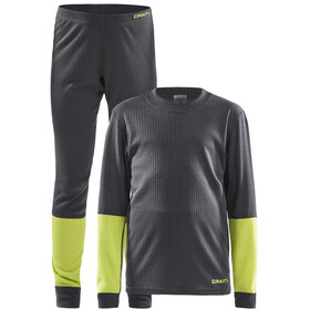 Craft Baselayer Set Kinderen, asphalt/acid